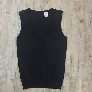 Black v-neck vest/tank.